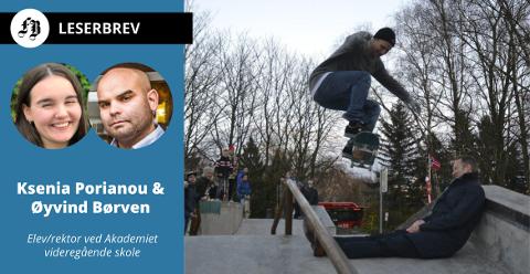 Skateparken åpent, Henning Braathen hopper over ordfører Jon-Ivar Nygård. –Suksessen til skateparken er et resultat av at ungdommene nettopp ikke ble hoppet over, heter det i innlegget.