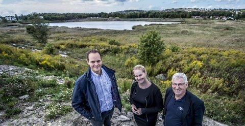 Arca Nova-selskapene drives av familien Dahl Hansen. Her er daglig leder i Arca Bolig Ruben Hansen, søsteren Lilja Guthu Hansen som blant annet er salgsansvarlig, og utviklingsansvarlig Ole Edvin Utaker.