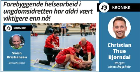 Svein Kristiansen startet debatten med sin kronikk «Forebyggende helsearbeid i ungdomsidretten ha aldri vært viktigere enn nå!»