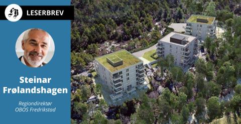 – OBOS har på konsernnivå som målsetning å tilby 1000 boliger per år gjennom alternative boligkjøpsmodeller slik at flere har mulighet til å eie sin egen bolig, skriver Frølandshagen. Bilde fra Begbyåsen.