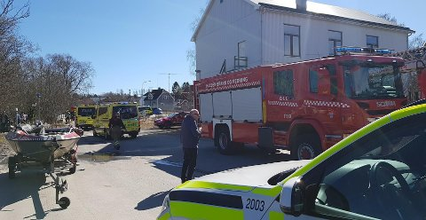 TISTEDAL: Nødetatene har rykket ut til Tangen i Tistedal.