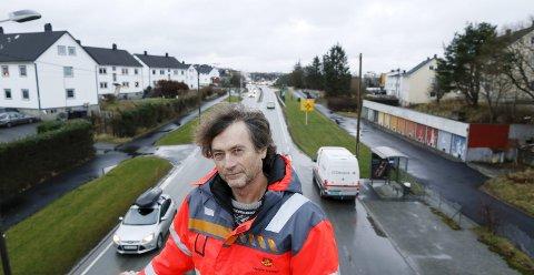 Støy og sykkel: Henry Damman er Statens vegvesens prosjektleder for Haugalandspakken.