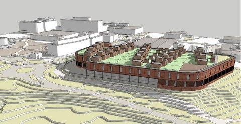 SKISSE: Slik er det tenkt at det nye kjøpesenteret på Alta sentrum skal se ut.