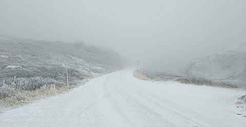 Det snødde lett over Killingskaret fredag ettermiddag .
