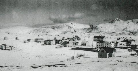 Bildet ble tatt i 1962 og viser hvordan det så ut på Leknes for 57 år siden.