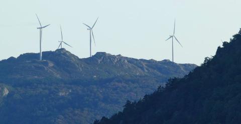 UT AV PLANEN: Fylkesrådmannen foreslår en høringsuttalelse som tar til orde for å fjerne Vest-Agder fra den nasjonale rammen for vindkraft.