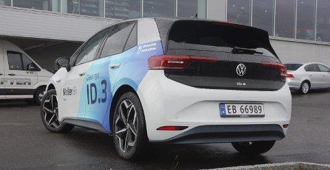 ÅRETS SALGSKOMET: Den elektriske kompaktkombien Volkswagen ID3 ble klart mest solgte modell både i Vestoppland og hele landet etter at leveringene startet i høst. I Vestoppland ble den også hele årets mest solgte.ALLE FOTO: ØYVIN SØRAA