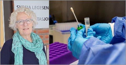 ADVARER: – Nå er det viktig å holde meteren og ellers bruke munnbind, sier smittevernoverlege Karin Frydenlund i Østre Toten.