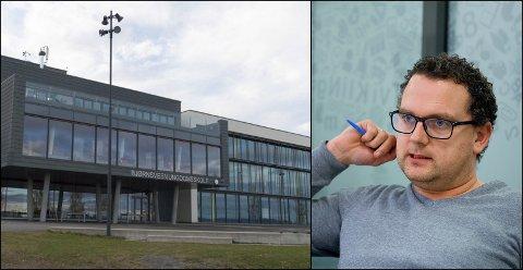 DIALOG: Rektor Hennings Engesveen ved Bjørnsveen ungdomsskole ønsker å få bukt med sabotasjetrenden før den blir et problem.