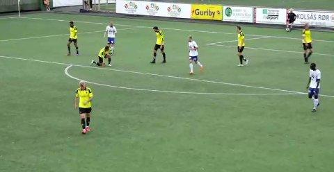 Nybergsund scoret to ganger på bortebane, men klarte bare uavgjort mot Bærum. (Foto: Skjermdump)
