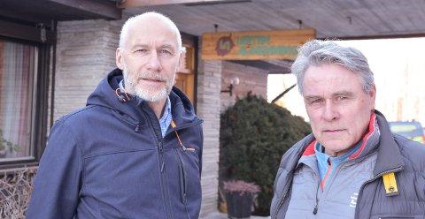 UNDER BUDSJETT: 2019 ble ikke noe økonomisk toppår for Løiten Almenning, fastslår allmenningsbestyrer Endre Jørgensen (til venstre) og styreleder Tore Sætren.