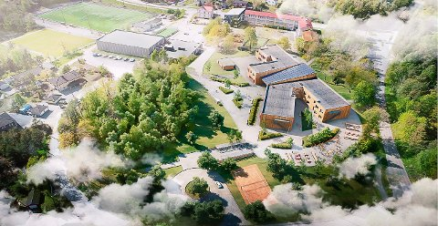 NY SKOLE: Slik planlegges nye Tveten ungdomsskole.