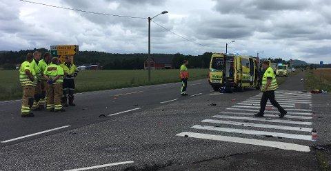 OMKOM: Lørdag 29. juli omkom 17 år gamle Stian Nikolai Landmark da motorsykkelen han førte traff en bil som svingte ut fra Hengsrødveien like nord for Revetal. Sjåføren av bilen er mistenkt for å ha brutt vikeplikten. Landmark var den andre motorsyklisten som omkom i Vestfold denne sommeren.