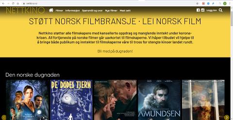 DUGNAD: Bruker du strømmetjenesten Nettkino.no støtter du samtidig norsk filmbransje med at alle inntekter går til de som nå har opplevd at alt har stoppet opp.