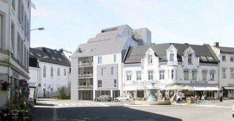 Ved siden av Baker halvorsen: Det burde la seg gjøre å tilpasse det nye bygget til eksisterende nærmiljø, skriver Vigdis E. Syvertsen. Illustrasjon: Spir Arkitekter