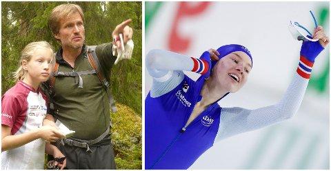 Bilde 1: Jo Wiklund og datteren Ragne har løpt mye orientering opp gjennom årene. Her er de ute i skogen på hytte i Sarpsborg sommeren 2010. Bilde 2: Ragne Wiklund jubler etter gulløpet på 1500 meter. (AP Photo/Peter Dejong)