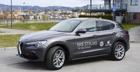 FØRSTE SUV: Alfa Romeo lanserer sin første SUV – Stelvio – oppkalt etter et særdeles svingete italiensk fjellpass. Det skal selvfølgelig markeres.foto: Fredrik strøm
