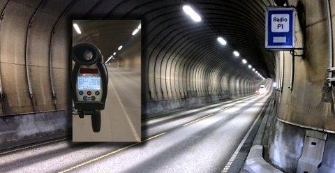 UPs laser målte en sjåfør til 133 km/t i Freifjordtunnelen. Det førte til førerkortbeslag og oppretting av straffesak.