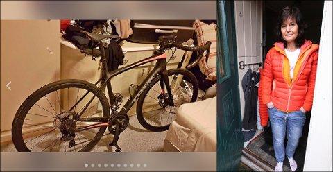 FANT ANNONSEN: I helgen, bare noen dager etter at Bente Rossing fikk frastjålet fire, dyre sykler, ble den ene lagt ut for salg på Facebook Marketplace.