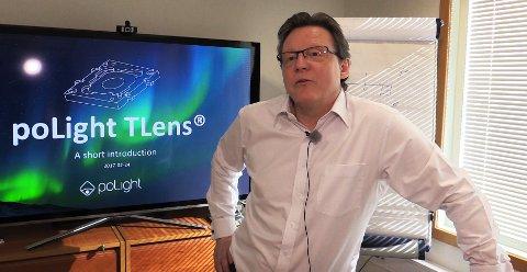 BØRSNOTERES: poLight og daglig leder Øyvind Isaksen har planer om å få selskapet på børs innen året er omme.