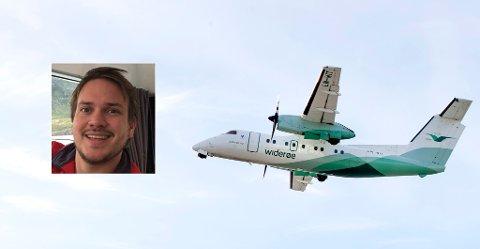 FLYPRISER: Ola Johannesen fra Hammerfest må betale minst 9.000 kroner for å fly til Bergen på julebord.