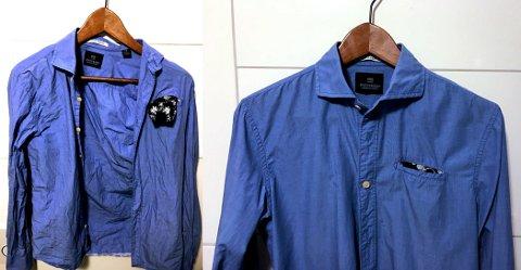 """VANSKELIG SKJORTE: Denne skjorta er sydd av tynn og """"crispy"""" bomull som krøller lett. Resultatet av mildere sentrifugering er likevel gode."""