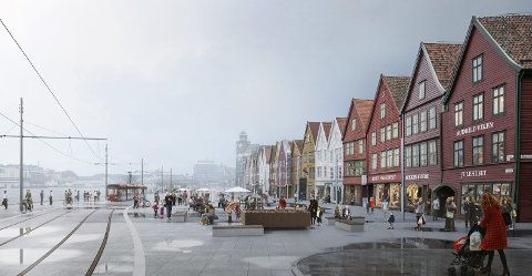 Juryen mener at vinneren viser at Bybanen kan føres forbi Bryggen uten større konflikt med kulturminneverdiene enn dagens bilvei.