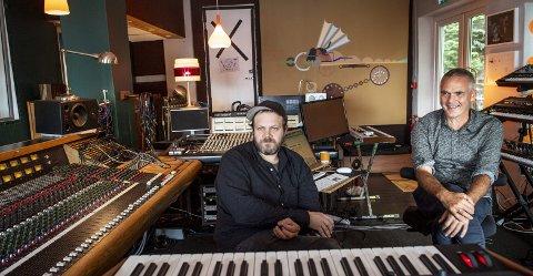 Det er blitt laget mange låter i dette studioet, som har endt opp som prisvinnere. Jørgen Træen og Yngve Sætre har drevet Duper studio her i Bergen kjøtt siden 2010. De stortrives i bygget.