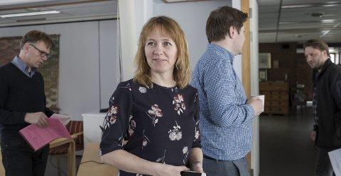 OMKAMP: Venstre og KrF må endå eit år kjempe for tapskompensajson til fylkeskommunen. Her er fylkesleiar i Venstre Gunhild Berge Stang (V).