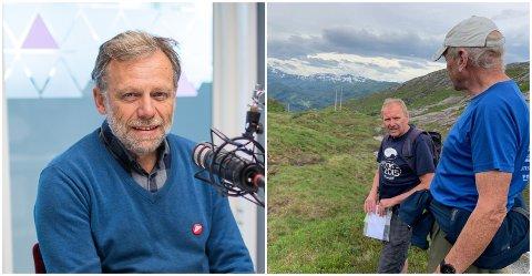 ARRANGØRAR: Åsmund Berthelsen er leiar i hovudkomiteen bak Fjord-O. Harald Olav Hjellbrekke (t.v.) er ansvarleg for starten på løpa, medan Norvald Ospehaug er løypeleggar på Ramsdalsheia.