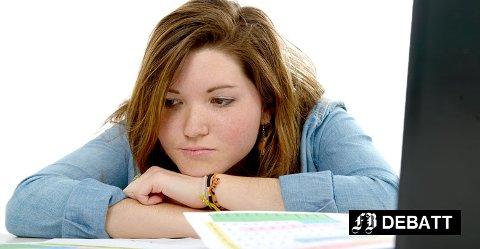 – Mange mener at lærerne ikke skjønner hvor grensa går for hva vi klarer og orker. Det at vi har så mye å gjøre skyldes dårlige prioriteringer fra vår side, har vi fått høre. Illustrasjonsfoto: Colourbox