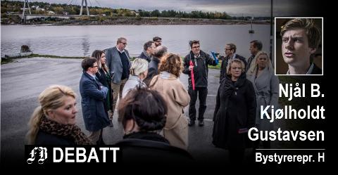Bilde fra formannskapets befaring på Tangen i oktober 2017. Foto: Geir A. Carlsson