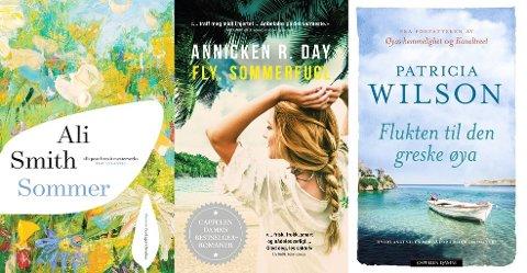 Ali Smiths fjerde og avsluttende bind (Forlaget Oktober), Annicken R. Day sin debutroman (Cappelen Damm) og Patricia Wilsons bok om greske hvite strender (Cappelen Damm).