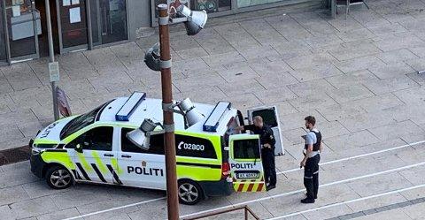 Pågripelsen gikk rolig for seg da politiet tok mannen med seg.