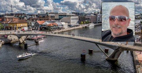 Rune Aavik (innfelt) reagerer på digitaliseringen på utesteder i Fredrikstad.