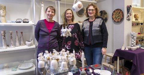 TAR I MOT: Sonja Gajic, Hege Hansen og Torunn Nielsen er klare for å ta i mot gjester.