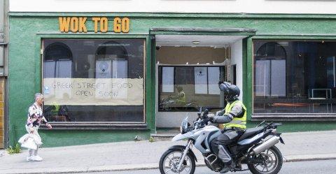 I VANGSVEIEN: I disse lokalene i Vangsveien er det greske spisestedet i ferd med å etablere seg.