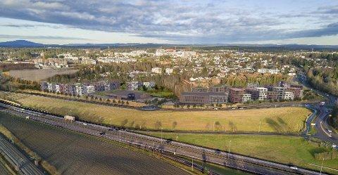 NY BYDEL: Treningskjeden Evo skal inn i Jessheim sør-prosjektet som omtales som byens inngangsport.