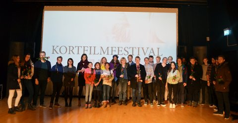 Juryen og alle deltakerne i Tilt kortfilmfestival 2016.