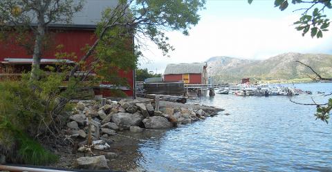 FLERE NAUST: I Bellvika er det allerede flere naust. De nye byggeplanene omfattet blant annet ni nye naust samt småbåthavn. Men motstandere mobiliserte, og nå sier politikerne nei.