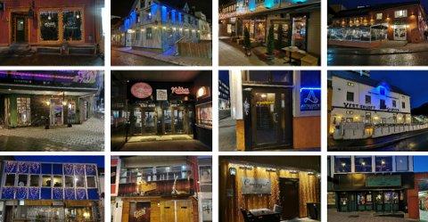 Flere av Tromsøs puber har stengte dører, mens andre prøver å holde åpent. Foto: Vetle Ravn Viken.