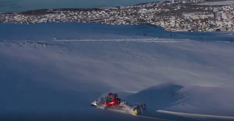 SKILØYPE: Nå er Fjellheisen en del av løypenettet i Tromsø.