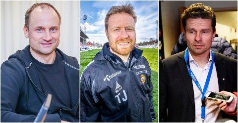 BIDRAGSYTERE: Sigurd Rushfeldt, Tom Høgli og Svein-Morten Johansen involveres rundt A-laget til TIL.