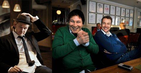 TREKLØVER: Knut Anders Sørum, Gustav Nilsen og Paul Håvard Østby blir tydelig til stede når Østre Toten skal vise kongeparet det beste de har å by på.