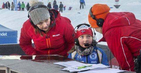 God teknikk: Wilma Isabel Stikbakke viste god skøyteteknikk og imponerte ekspert Liv Grete Skjelbreid (t.v).