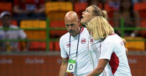 TYPISK MEG: Marit Malm Frafjord har aldri tråkket over før, men gjorde det i åpningsminuttet mot Sverige, og tenkte at det var typisk når hun først skulle bli skadet.