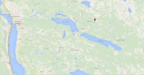 SNØSKRED: Lørdag ettermiddag gikk det et snøskred på Sjusjøen Skisenter i Ringsaker. (Kart: Google Maps)