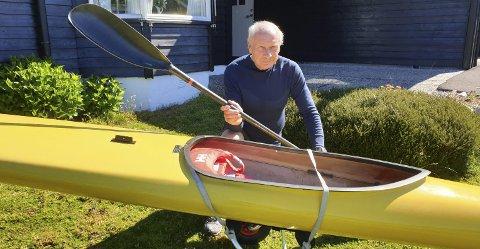 Rolf Olsen trener fortsatt mye, men kvier seg for å padle i Vestfjorden på grunn av bølger fra store cabincruisere.