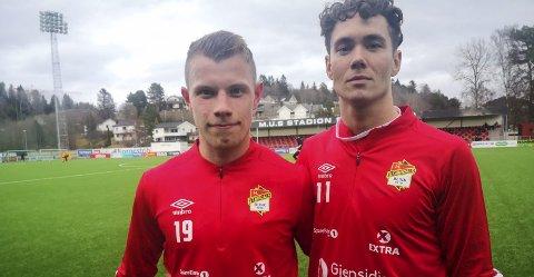 SAMHANDLER: Joachim (t.h.) og Runar Hauge var begge involvert i ledermålet mot Sogndal i forrige uke.