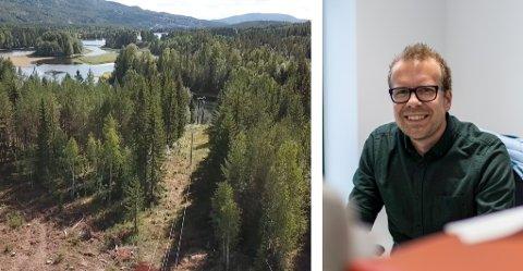 HOLDER TRÆRNE UNNA: - I fremtiden blir vi nødt til å rydde langt oftere, sier Tor Jørgensen, leder for drift og vedlikehold i Ringerikskraft Nett.